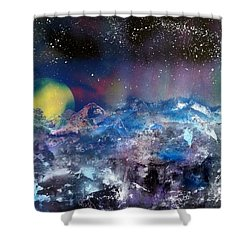Northern Lights Relection Shower Curtain