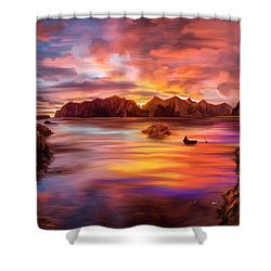 Northern Norway - Ipad Version Shower Curtain by Angela A Stanton