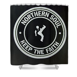 Northern Soul Dancer Inverted Shower Curtain