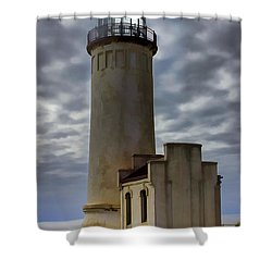 North Head Lighthouse Shower Curtain by Cathy Anderson