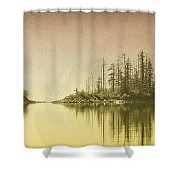 Northwest Islet Shower Curtain