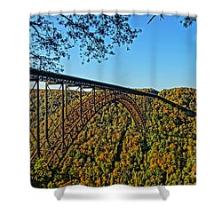 Northwest View Of Gorge Bridge Shower Curtain by Timothy Connard
