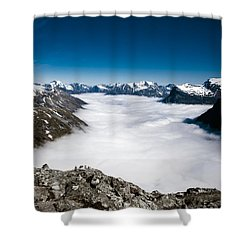 Norway In The Clouds Shower Curtain