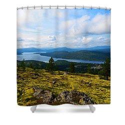 Norwegian Landscape 3 Shower Curtain