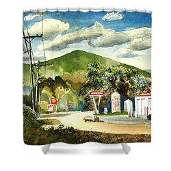 Nostalgia Arcadia Valley 1985  Shower Curtain
