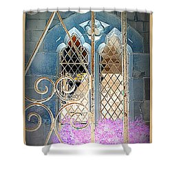 Nostalgic Church Window Shower Curtain by The Creative Minds Art and Photography