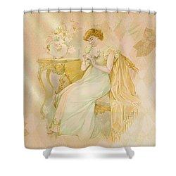 Shower Curtain featuring the digital art Nostalgic Contemplation by Sandra Foster