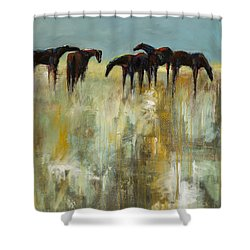 Not A Cloud In The Sky Shower Curtain by Frances Marino