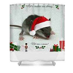 Not A Creature Was Stirring Shower Curtain by Barbara S Nickerson