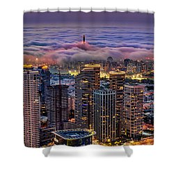 Shower Curtain featuring the photograph Not Hong Kong by Ron Shoshani