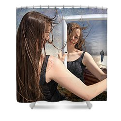 Not Pretty Enough Shower Curtain by Linda Lees