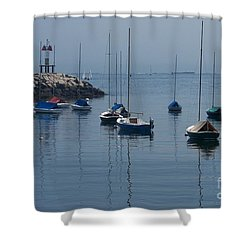 Shower Curtain featuring the photograph Sail Boats  by Eunice Miller