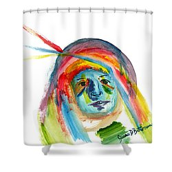 Not Saying A Word Shower Curtain