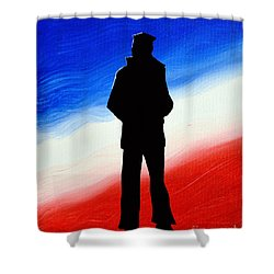 Not Self But Country Shower Curtain