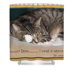 Not Tonight Dear ... Shower Curtain by EricaMaxine  Price