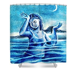 Not Waving But Drowning Shower Curtain by Trudi Doyle