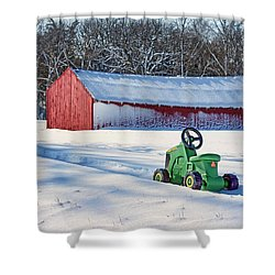 Nothing Runs Like A Deere #1 Shower Curtain by Nikolyn McDonald