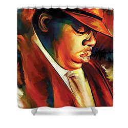 Notorious Big - Biggie Smalls Artwork Shower Curtain