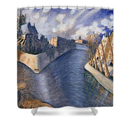Notre Dame Cathedral Shower Curtain by Charlotte Johnson Wahl