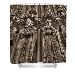 Notre Dame Facade Detail Shower Curtain
