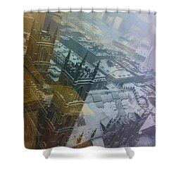 Notre Dame On The Vertical Shower Curtain by Valerie Rosen