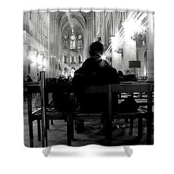 Shower Curtain featuring the photograph Notre-dame Paris by Danica Radman
