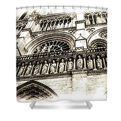 Notre Dame Pencil Shower Curtain