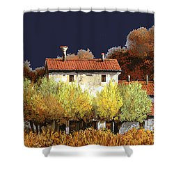 Notte In Campagna Shower Curtain by Guido Borelli