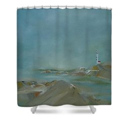 Shower Curtain featuring the painting Nova Scotia Fog by Judith Rhue