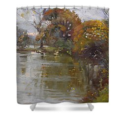 November 4th At Hyde Park Shower Curtain by Ylli Haruni