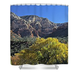 Shower Curtain featuring the photograph November In Sedona by Penny Meyers