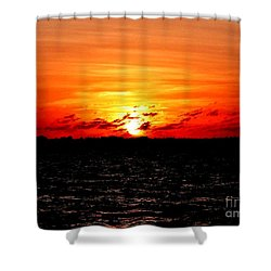 November Sky Shower Curtain by Amar Sheow