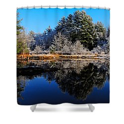 November Snow Shower Curtain