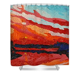 November Sunset Shower Curtain by Phil Chadwick