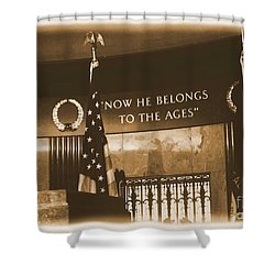 Shower Curtain featuring the photograph Now He Belongs To The Ages by Luther Fine Art