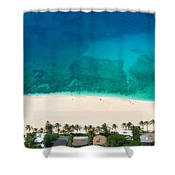 Pipeline Reef From Above Shower Curtain