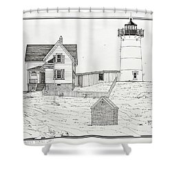 Nubble Light Shower Curtain by Ira Shander