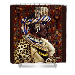 Nubian Prince Shower Curtain by Jane Whiting Chrzanoska