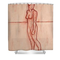 Nude 39 Shower Curtain by Patrick J Murphy