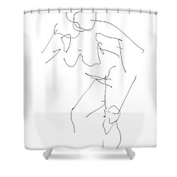 Nude Female Drawings 14 Shower Curtain