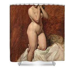 Nude From The Front Shower Curtain by William Etty
