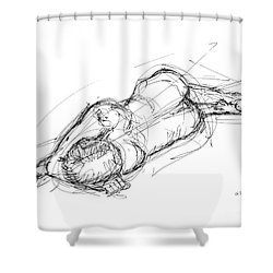 Nude Male Sketches 4 Shower Curtain