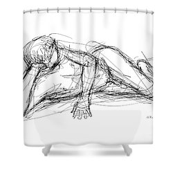 Nude Male Sketches 5 Shower Curtain