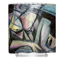 Nude Model In Studio Shower Curtain by Carrie Maurer