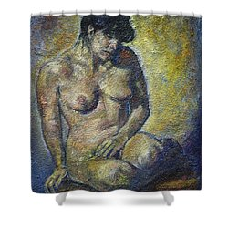 Sad - Nude Woman Shower Curtain
