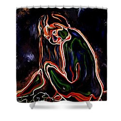 Outlined Nude 1 Shower Curtain