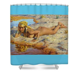 Nue Au Bord De L' Oued Shower Curtain by Pg Reproductions