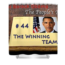 Number 44 - The Winning Team Shower Curtain