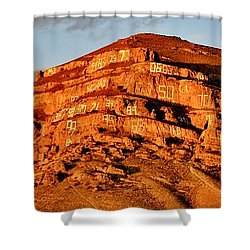 Shower Curtain featuring the photograph Number Hill by Benjamin Yeager