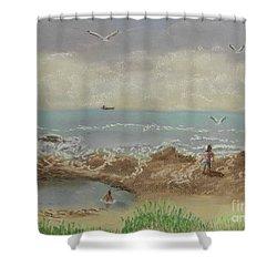 Nuns Pool Below Flagstaff Hill Shower Curtain
